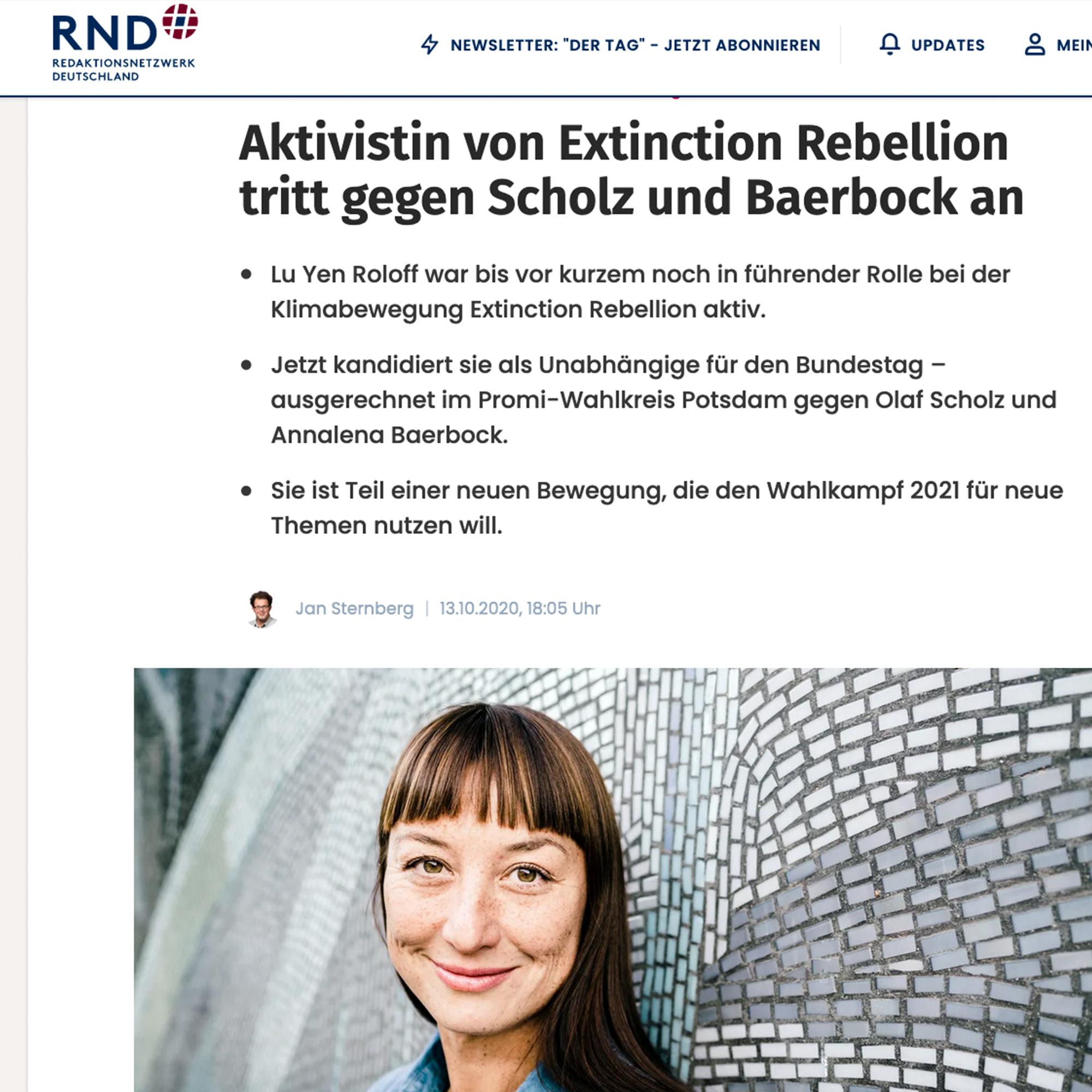 Zeitungsartikel Redaktionsnetzwerk Deutschland