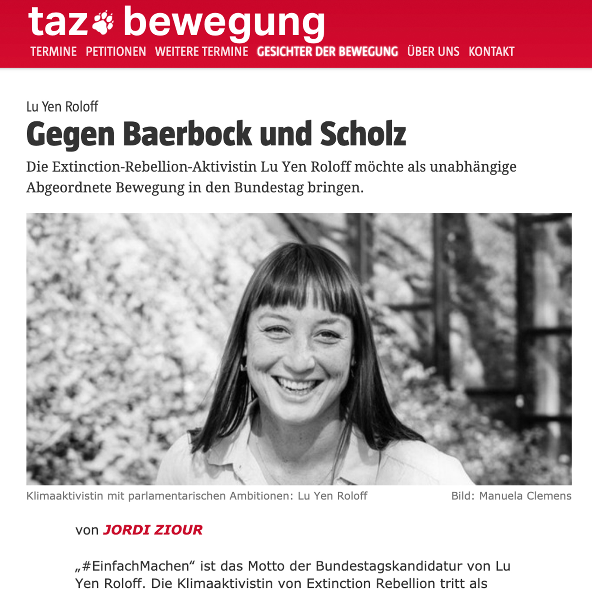 Zeitungsartikel TAZ